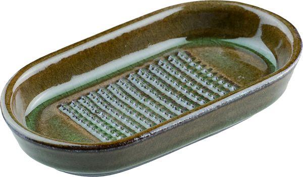 画像2: ひげが出にくい不思議な生姜おろし器(ビードロ釉)