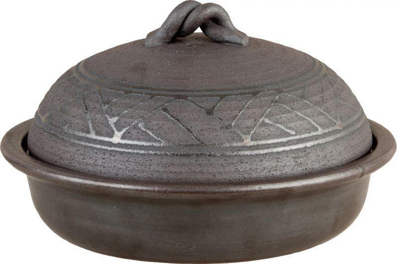 画像5: 陶器の燻製も出来るパーティ鍋(4人用)