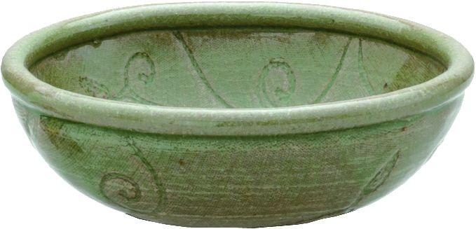 画像3: 手造り唐草紋 ビードロ釉8号土鍋(3人用)