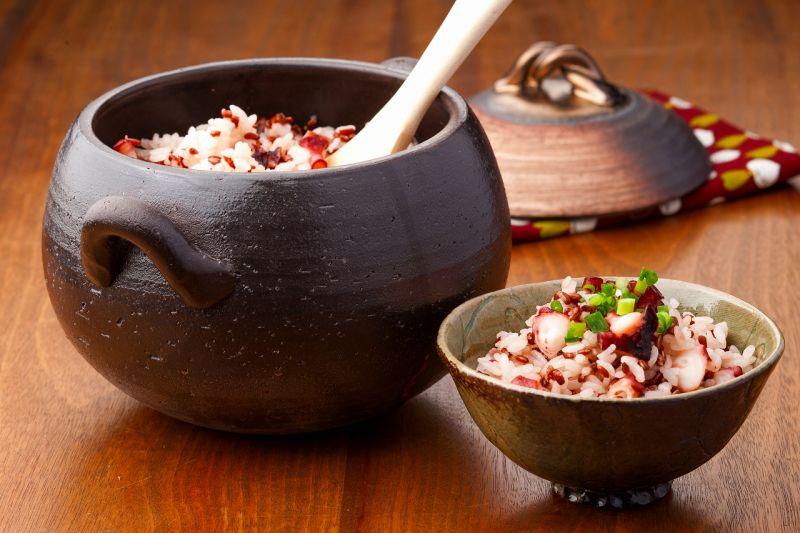 画像3: 【送料無料】セラミックコーティングごはん炊き土鍋2〜3合炊き しのぎ黒金彩