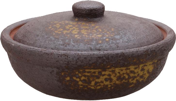 画像3: 焼締(茶) 陶板鍋セット