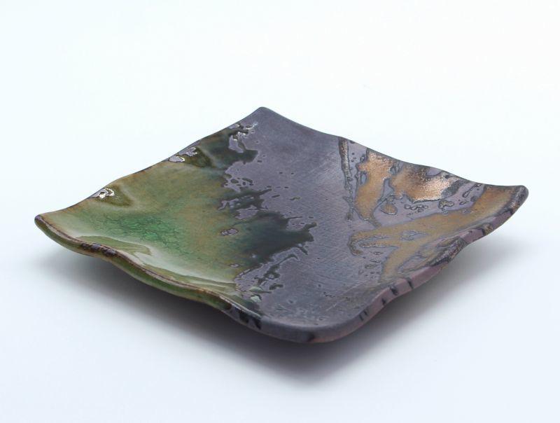 画像1: 伊賀金彩 5号正角皿