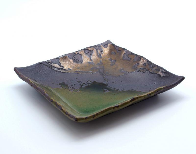 画像1: 伊賀金彩 7号正角皿