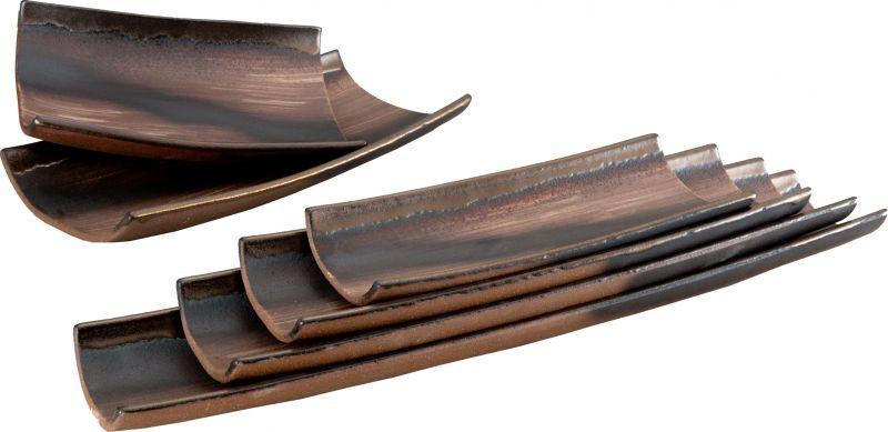 画像3: 伊賀金彩 手造り長角皿28cm