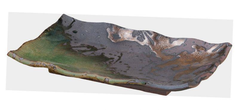 画像1: 伊賀金彩 焼物皿