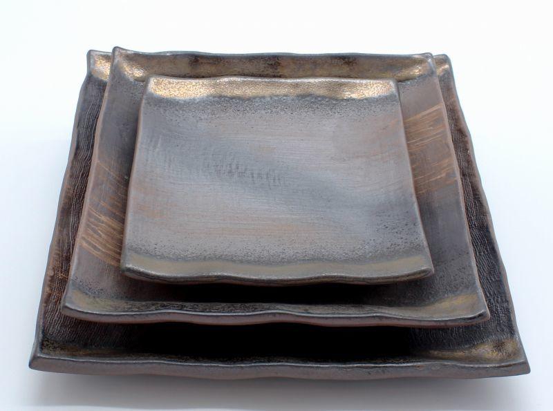 画像3: 金彩 8号正角皿
