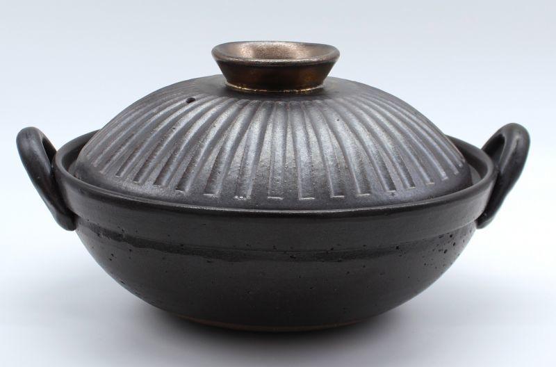 画像1: しのぎ手造り9号土鍋(4人用)