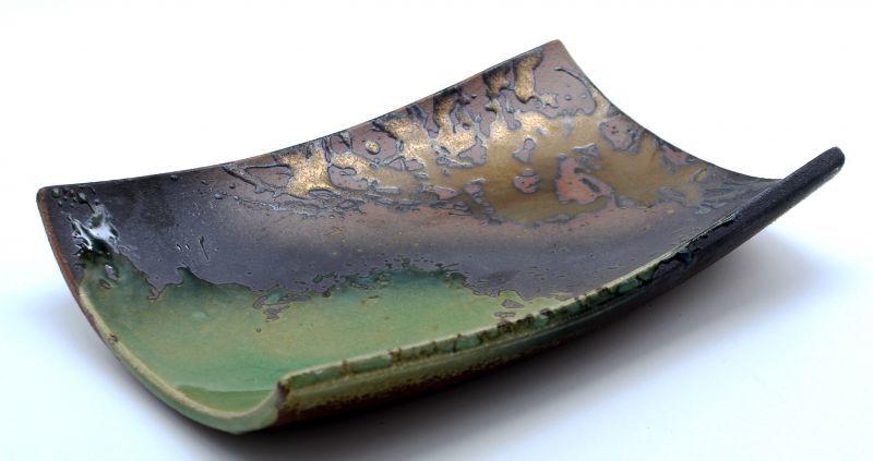 画像1: 伊賀金彩 手造り長角皿40cm